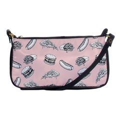 Fast Food Pattern Shoulder Clutch Bag