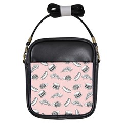Fast Food Pattern Girls Sling Bag