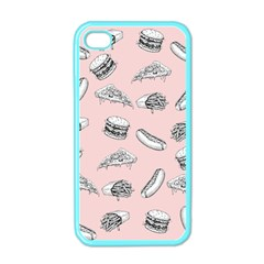 Fast Food Pattern Apple Iphone 4 Case (color)