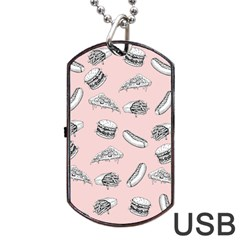Fast Food Pattern Dog Tag Usb Flash (one Side)