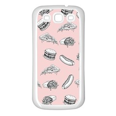 Fast Food Pattern Samsung Galaxy S3 Back Case (white)