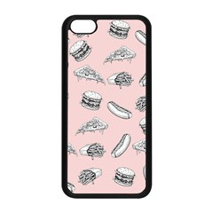 Fast Food Pattern Apple Iphone 5c Seamless Case (black)