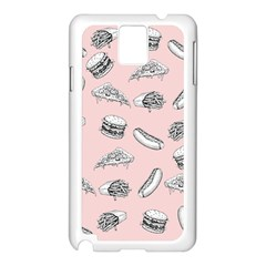 Fast Food Pattern Samsung Galaxy Note 3 N9005 Case (white)