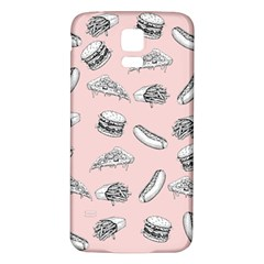 Fast Food Pattern Samsung Galaxy S5 Back Case (white)