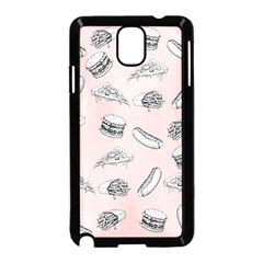 Fast Food Pattern Samsung Galaxy Note 3 Neo Hardshell Case (black)