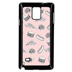 Fast Food Pattern Samsung Galaxy Note 4 Case (black)