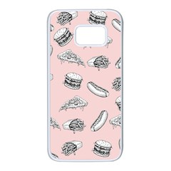 Fast Food Pattern Samsung Galaxy S7 White Seamless Case