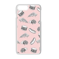 Fast Food Pattern Apple Iphone 7 Plus Seamless Case (white)