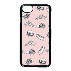 Fast Food Pattern Apple Iphone 8 Seamless Case (black)
