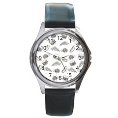 Fast Food Pattern Round Metal Watch
