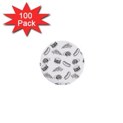 Fast Food Pattern 1  Mini Buttons (100 Pack)