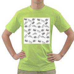 Fast Food Pattern Green T Shirt