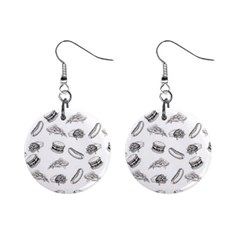Fast Food Pattern Mini Button Earrings