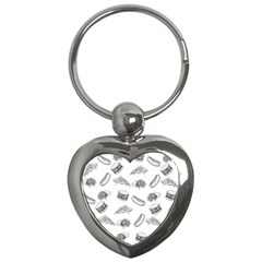 Fast Food Pattern Key Chains (heart)