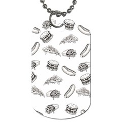 Fast Food Pattern Dog Tag (two Sides)