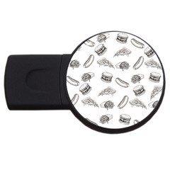 Fast Food Pattern Usb Flash Drive Round (2 Gb)