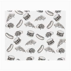 Fast Food Pattern Small Glasses Cloth