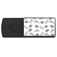 Fast Food Pattern Rectangular Usb Flash Drive