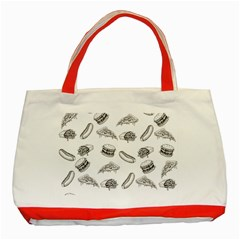 Fast Food Pattern Classic Tote Bag (red)