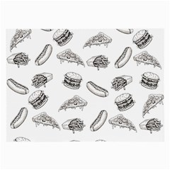 Fast Food Pattern Large Glasses Cloth