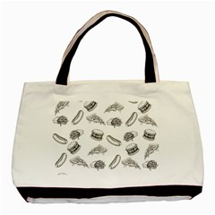 Fast Food Pattern Basic Tote Bag (two Sides) by Valentinaart