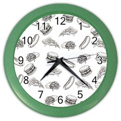 Fast Food Pattern Color Wall Clock