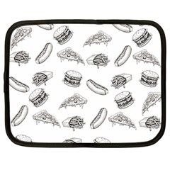 Fast Food Pattern Netbook Case (large)
