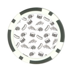 Fast Food Pattern Poker Chip Card Guard (10 Pack)