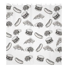 Fast Food Pattern Shower Curtain 66  X 72  (large)