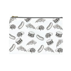 Fast Food Pattern Cosmetic Bag (large)