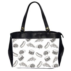 Fast Food Pattern Oversize Office Handbag (2 Sides)