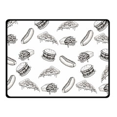 Fast Food Pattern Fleece Blanket (small)