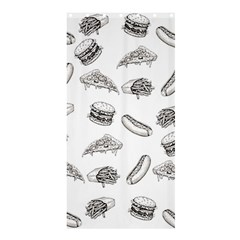 Fast Food Pattern Shower Curtain 36  X 72  (stall)
