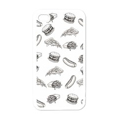 Fast Food Pattern Apple Iphone 4 Case (white)