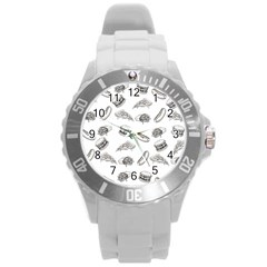Fast Food Pattern Round Plastic Sport Watch (l)