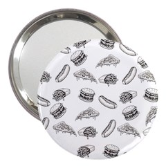 Fast Food Pattern 3  Handbag Mirrors