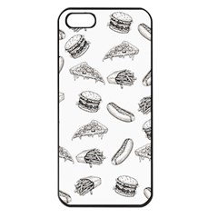 Fast Food Pattern Apple Iphone 5 Seamless Case (black)