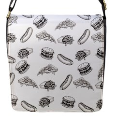 Fast Food Pattern Flap Closure Messenger Bag (s)