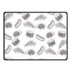 Fast Food Pattern Double Sided Fleece Blanket (small)