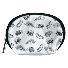 Fast Food Pattern Accessory Pouch (medium)