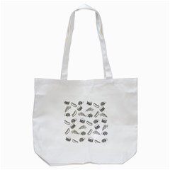 Fast Food Pattern Tote Bag (white)