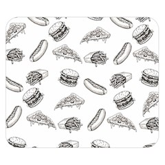 Fast Food Pattern Double Sided Flano Blanket (small)