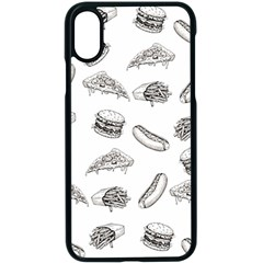Fast Food Pattern Apple Iphone X Seamless Case (black)
