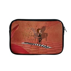 Cute Fairy Dancing On A Piano Apple Macbook Pro 13  Zipper Case by FantasyWorld7