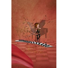 Cute Fairy Dancing On A Piano 5 5  X 8 5  Notebook by FantasyWorld7