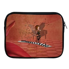 Cute Fairy Dancing On A Piano Apple Ipad 2/3/4 Zipper Cases by FantasyWorld7