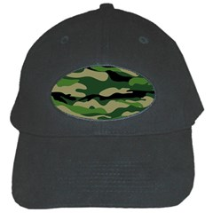 Green Military Vector Pattern Texture Black Cap