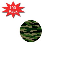 Green Military Vector Pattern Texture 1  Mini Buttons (100 Pack)  by Samandel