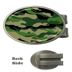 Green Military Vector Pattern Texture Money Clips (oval)