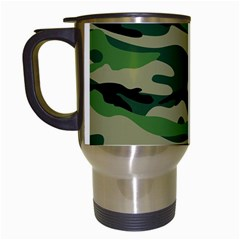 Green Military Vector Pattern Texture Travel Mugs (white) by Samandel